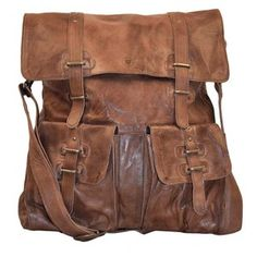 Sade Large Leather Bag Brown, 171€, now featured on Fab.