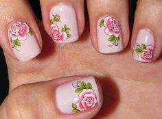 Polish Art Addict: Pink Floral Water Decals