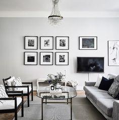 gallery wall   swedish apartment