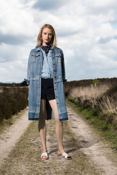 It's America's deep rooted history with denim, and Japan's innovativetechniques with indigo, that inspired Sean Monahan and MonicaPaolini's resort collection. Denim jackets, midi skirts and straplessdresses were screen-printed, with vintage batik patterns, usingbleach (yes!). Bandana prints