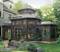 A Gardener's Dream Greenhouse: A superb rendition of the iconic Victorian-era conservatory, the design of this fully functional greenhouse is based upon the renowned Conservatory of Flowers in San Francisco's Golden Gate Park.