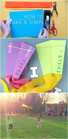 How to Make a Simple Kite - step by step video tutorial. Love how easy this is! My kids will love this!!