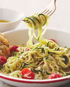 The flavour in this dish will have family and guests devouring it like a pack of wolves. Quickly preparing the spiralized zucchini and cashew cream the night before will reduce the cooking time even further.