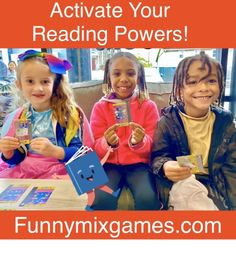 The FUNNY MIX Phonics Superheroes landed at Caprichos Books! Thank You to all of the kids that had fun playing this educational card game!  Order your very own FUNNY MIX Phonics Superhero Game Today! Funnymixgames.com  #literacy #preschool #kindergarten #firstgrade #dyslexia #homeschool #superhero #superheroes #ortongillingham Superhero Games For Kids, Superhero Names, Teaching Letters, Teaching Kids, Kids Learning, Reading Games, Reading Strategies, Kindergarten Phonics, Literacy