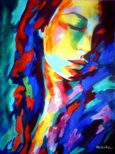 "Saatchi Art Artist Helena Wierzbicki; Painting, ""Glow in shadows"" #art"