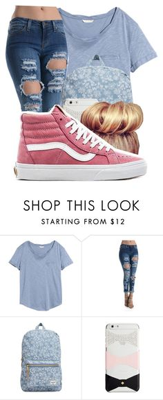 """Untitled: 146"" by ashia1 ❤ liked on Polyvore featuring H&M, Herschel Supply Co., Kate Spade and Vans"