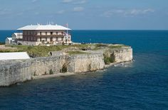 Commissioner's house at the Royal Naval Dockyard in Bermuda.