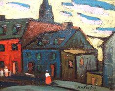 Vieux Montreal (c.1922) - Marc-Aurèle Fortin Canadian Painters, Canadian Artists, Watercolor Sketch, Watercolor Landscape, Montreal Museums, Group Of Seven, National Art, Museum Of Fine Arts, Art Studies