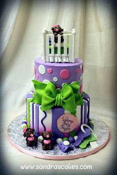 Sandra's Cakes : MONKEY THEMED BABY SHOWER CAKE
