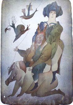 Adolf Born - Maler, Grafiker, Illustrator, Lustiger Nachmittag