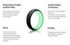 Two Tone Wedding Bands   Glow Rings   Glow Collection – Carbon6
