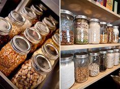 Organização na Cozinha: Potes de Vidro