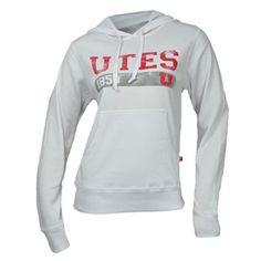 Utah Utes Women's Belgian Pill Hooded Sweatshirt (White) I want this!