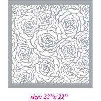 Oh so cute Garden Roses Allover Designer Pattern Wall Stencil Home Decor - Thumbnail 1