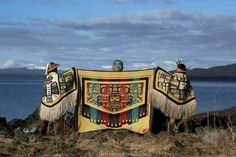 Incredible tribute to the Alaska tribes!  These blankets are beautiful!