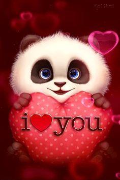 Panda I Love You Gif - Panda I Love You Gif love quotes gif i love you love images love gifs love pic love pic images love - Cute Panda Wallpaper, Love Wallpaper, Wallpaper Desktop, Disney Wallpaper, Wallpaper Quotes, Wallpaper Backgrounds, I Love You Images, Love Pictures, I Love You Pics