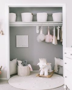 The past few months I've been on a mission to #prettytheclosets because closets are so often an overlooked and forgotten area of our home that can be turned into a beautiful, functional space! From styled closets to reading nooks to mudroom drop zones, I'm tackling once closet at a time to turn it into a pretty, useable space! . This is my little girl's closet which we took the 1980s gold mirror doors off of when we moved in. Since we don't have a ton of hanging clothes at this age (and the ......