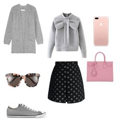 """""""Sin título #133"""" by jocelin-cra on Polyvore featuring moda, By Malene Birger, Chicwish, WithChic, Converse, Yves Saint Laurent y Gentle Monster"""