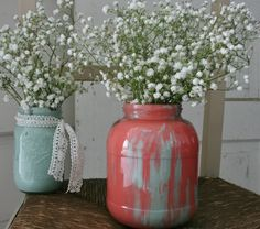 painted anthropologie inspired jars by OGD