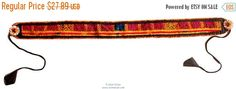 30% OFF SALE Waist Belt Gypsy Multicolored Fabric Hand Embroidered with Beads Work Banjara Fashion Accessory