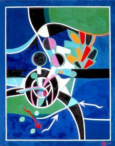 Magic Games, 1978. By Françoise Gilot (France, born 1921). Oil on canvas.