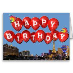 HAPPY BIRTHDAY from Las Vegas Card