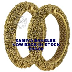 The SAMIYA BANGLES   by Indiatrend. Shop Now at WWW.INDIATRENDSHOP.COM