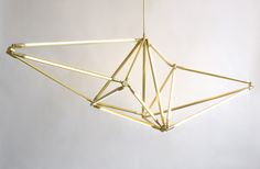 American designer Bec Brittain is the mastermind behind the SHY light, a geometric light fitting that has a highly adaptable shape.
