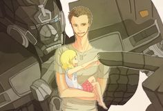 Image detail for -transformers/ironhide and william lennox, haha, thats cute <3