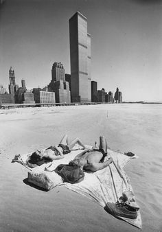 battery park city when it was just landfill. 1977.
