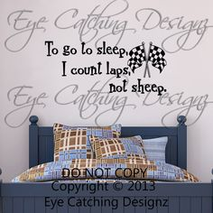 To go to sleep I Count Laps Not Sheep by EyeCatchingDesignz