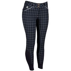 SmartPak Piper Plaid Full Seat Breeches *Midnight Navy Plaid *Size: 28 R (Regular)