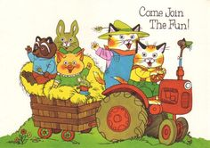 vintage 70s richard scarry party invitation by vvpaperemporium