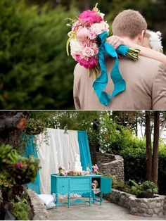 turquoise and pink wedding - Google Search