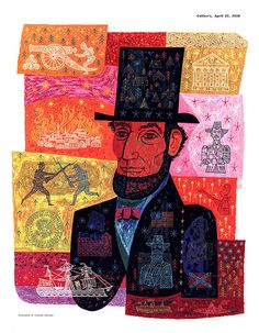 Abe Lincoln by Thomas Vroman 1956 #awesome #illustration #print #history #presidents