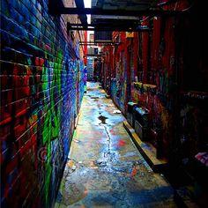X Graffiti Alley in Ann Arbor, MI - http://visitannarbor.org