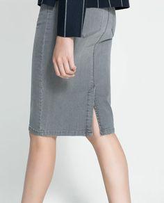 Image 5 of DENIM PENCIL SKIRT from Zara