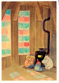 Taikatalvi - Tove Jansson's illustration to Moominland Midwinter  2009 from the Tampere Artmuseum collection