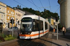 Trams in Linz Light Rail, City Life, Austria, The Neighbourhood, Challenges, Around The Worlds, River, Landscape, Vehicles