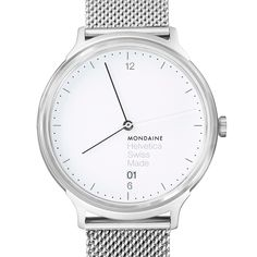 This collection from Mondaine is inspired by another of Switzerland's most important creations: Helvetica.