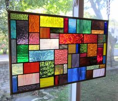 Stained Glass Transom Window, for my front Windows when that afternoon sun is streaming in!