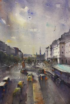 Mika Törönen Stockholm, Watercolor, Gallery, Painting, Art, Pen And Wash, Art Background, Watercolor Painting, Roof Rack