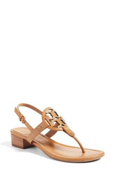 c5f0abb7c2cf66 Tory Burch Miller Block Heel Sandal (Women) Block Heel Shoes