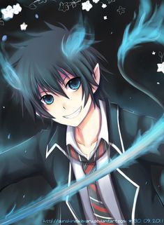 Ao No Exorcist - Rin by sunshineikimaru Ao No Exorcist, Blue Exorcist Movie, Blue Exorcist Anime, Rin Okumura, Otaku, Cool Anime Pictures, Anime Profile, Star Vs The Forces Of Evil, Anime Characters