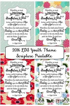 2016 LDS Youth posters