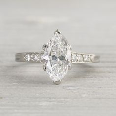 1.41 Carat Vintage Tiffany & Co. Marquise Engagement Ring | Erstwhile Jewelry Co.
