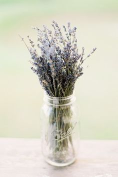 Simple lavender centerpiece