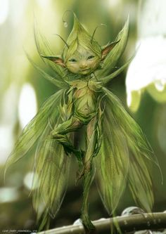 1 of Beautiful Mystical Fairytale Vibrant Butterfly Wings Cat Ears Talking To Cute Kitten Sitting Upon Tree Stump Statue Figurine Sculpture