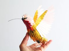Hummingbird from colorful paper by colombian Diana Beltran Herrera