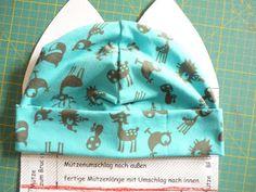 Jerseymütze Bettina ...so mache ich es Freebook von hier: http://www.farbenmix.de/de/jerseymuetze.html
